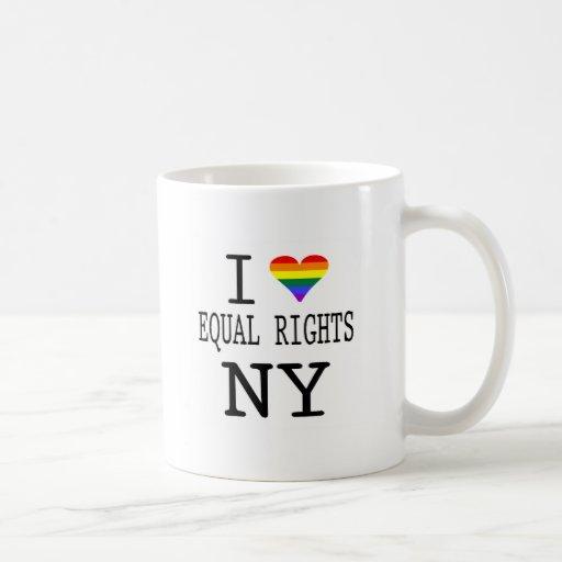Eu amo direitos iguais de NY Canecas