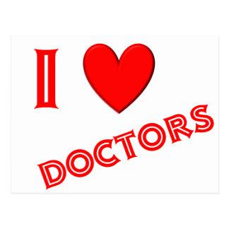 Eu amo doutores cartão postal