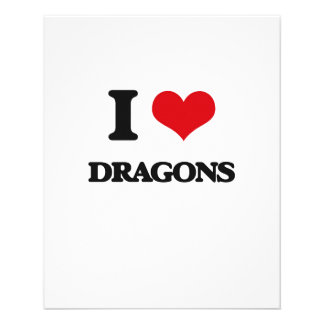 Eu amo dragões panfletos personalizados