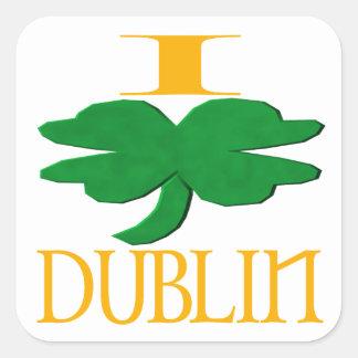 Eu amo Dublin Adesivo Quadrado