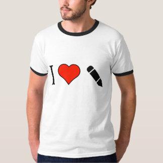 Eu amo editar minhas escritas camiseta