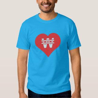 Eu amo editar o ícone dos textos tshirts