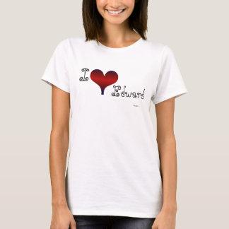 Eu amo Edward Camiseta