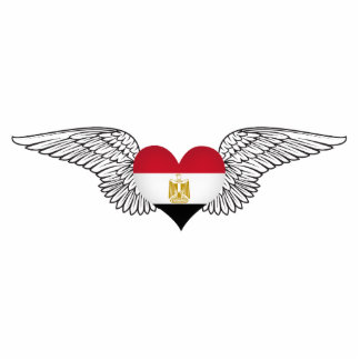 Eu amo Egipto - asas Fotoescultura