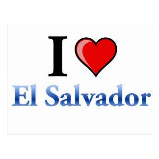 Eu amo El Salvador Cartão Postal