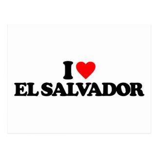 EU AMO EL SALVADOR CARTÕES POSTAIS