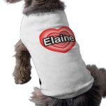 Eu amo Elaine. Eu te amo Elaine. Coração Roupas Para Pets