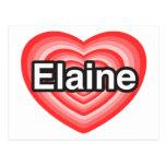 Eu amo Elaine. Eu te amo Elaine. Coração Cartões Postais