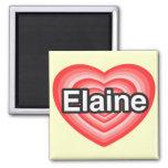 Eu amo Elaine. Eu te amo Elaine. Coração Imas