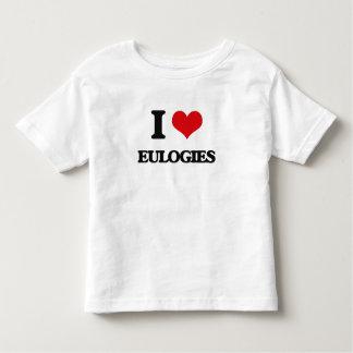 Eu amo ELEGIAS Camisetas