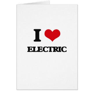 Eu amo elétrico cartoes