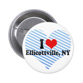 Eu amo Ellicottville NY Botons