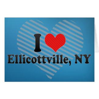 Eu amo Ellicottville, NY Cartoes