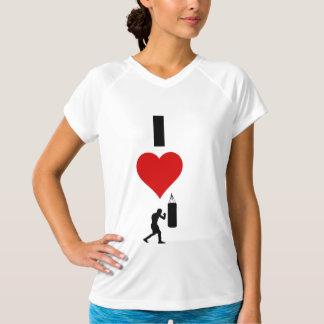 Eu amo encaixotar (o vertical) camiseta