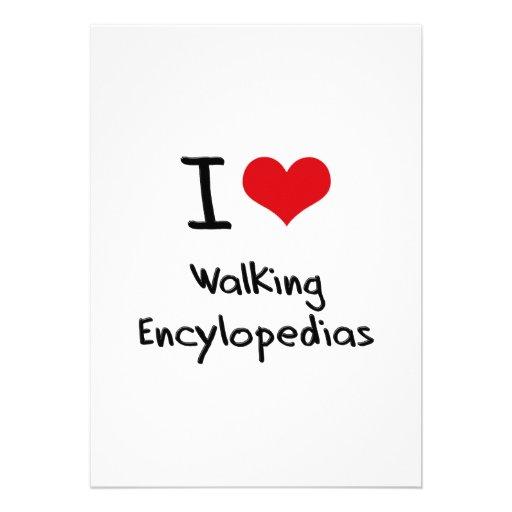 Eu amo Encylopedias de passeio Convites