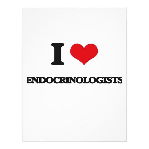 Eu amo endocrinologista panfleto