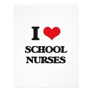 Eu amo enfermeiras da escola panfletos personalizados