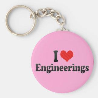Eu amo engenharias chaveiro
