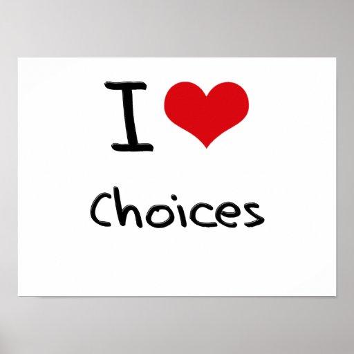 Eu amo escolhas posters