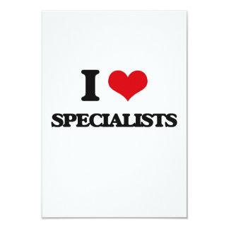 Eu amo especialistas convite 8.89 x 12.7cm