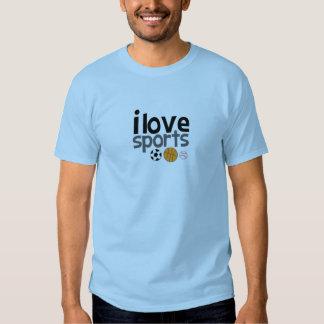 Eu amo esportes! t-shirts