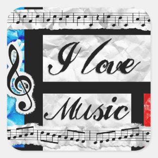 """""""Eu amo etiquetas das notas musicais da música"""""""