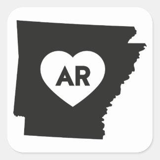 Eu amo etiquetas do estado de Arkansas