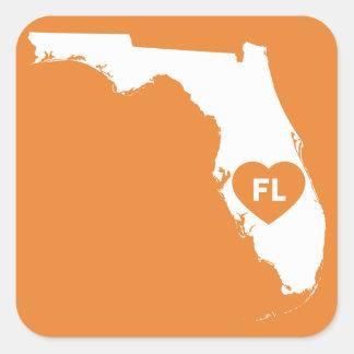 Eu amo etiquetas do estado de Florida
