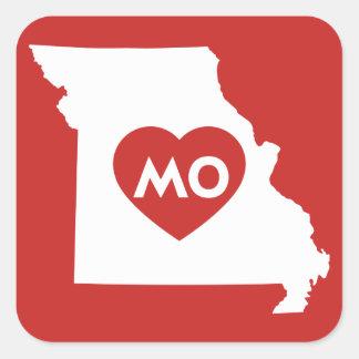 Eu amo etiquetas do estado de Missouri