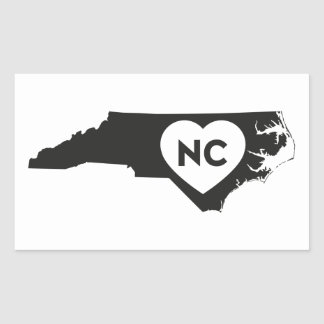 Eu amo etiquetas do estado de North Carolina