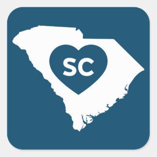 Eu amo etiquetas do estado de South Carolina