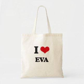 Eu amo Eva Sacola Tote Budget