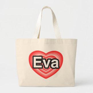 Eu amo Eva. Eu te amo Eva. Coração Bolsa Para Compra