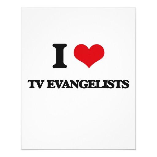 Eu amo evangelistas da tevê modelo de panfletos