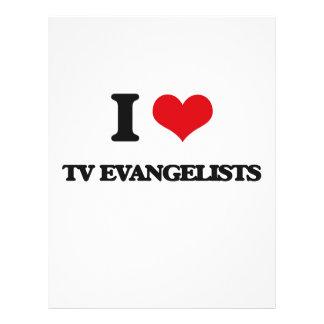 Eu amo evangelistas da tevê panfleto personalizado