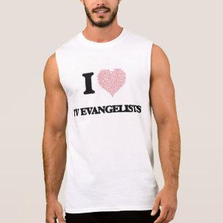 Eu amo evangelistas da tevê (o coração feito das camisa sem manga