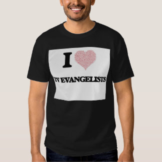 Eu amo evangelistas da tevê (o coração feito das t-shirt