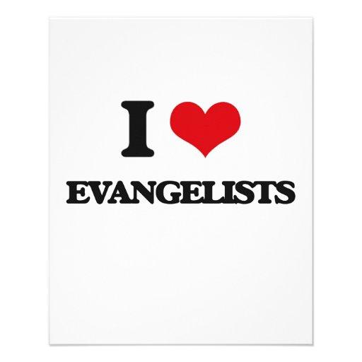 Eu amo evangelistas panfleto personalizados