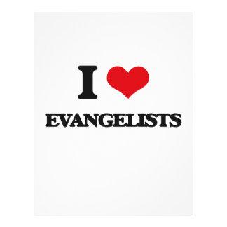 Eu amo evangelistas modelo de panfleto