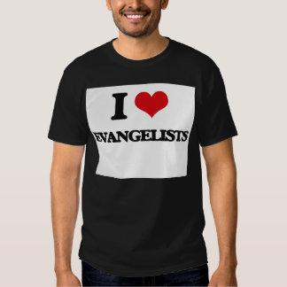 Eu amo evangelistas tshirts