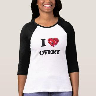 Eu amo evidente camiseta