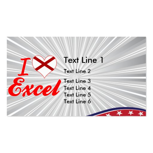 Eu amo Excel, Alabama Cartões De Visita
