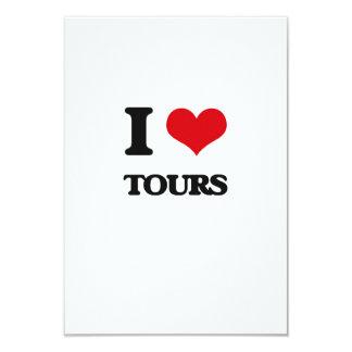 Eu amo excursões convite 8.89 x 12.7cm