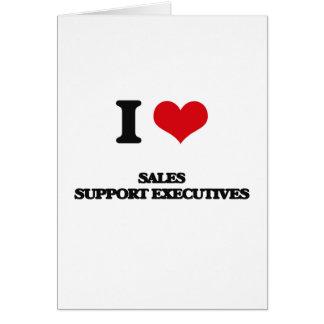 Eu amo executivos do apoio das vendas cartão comemorativo