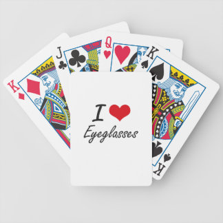 Eu amo EYEGLASSES Baralho Para Poker
