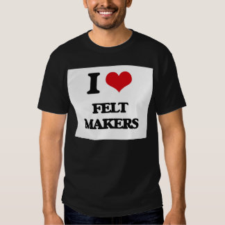 Eu amo fabricantes de feltro tshirts
