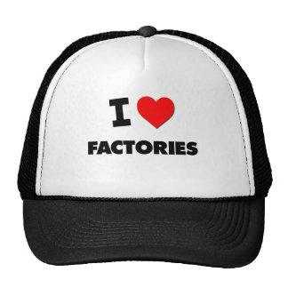 Eu amo fábricas boné