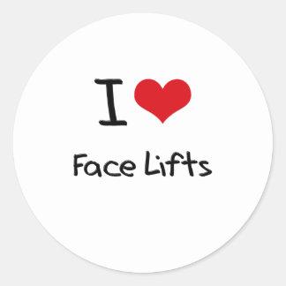 Eu amo faces lift adesivo