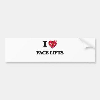 Eu amo faces lift adesivo para carro