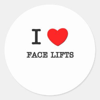 Eu amo faces lift adesivos